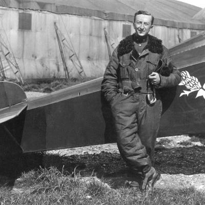 Onderluitenant Coppens van het 1ste Smaldeel.