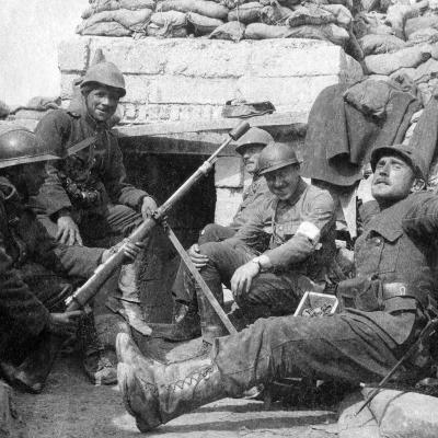 Soldiers in the Trench of Death