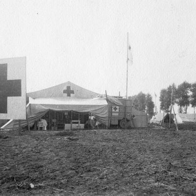 Ein Feldlazarett an der Front