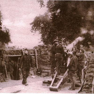 Belgische artillerie rond Antwerpen
