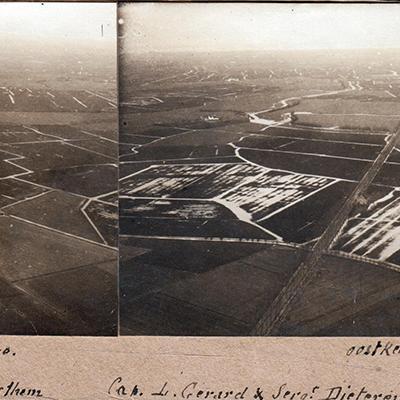 Zicht op Oostkerke, februari 1915.