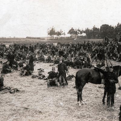 Belgische troepen tijdens de uitvallen van Antwerpen