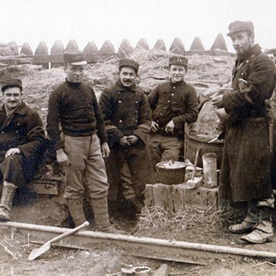 Soldaten an der Yser
