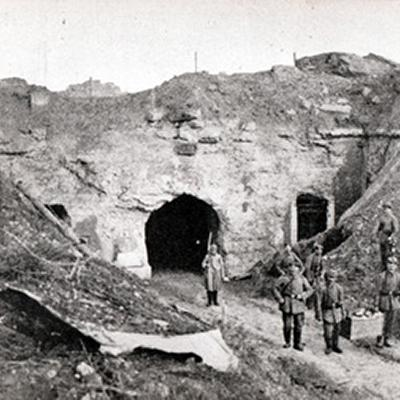 German troops at the Fort of Loncin