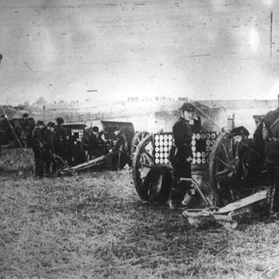 Belgian artillery around Liège