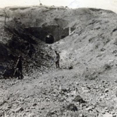 Das Fort von Maizeret nach einen Bombardement