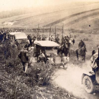 Op weg naar Svistelniki, 1916.