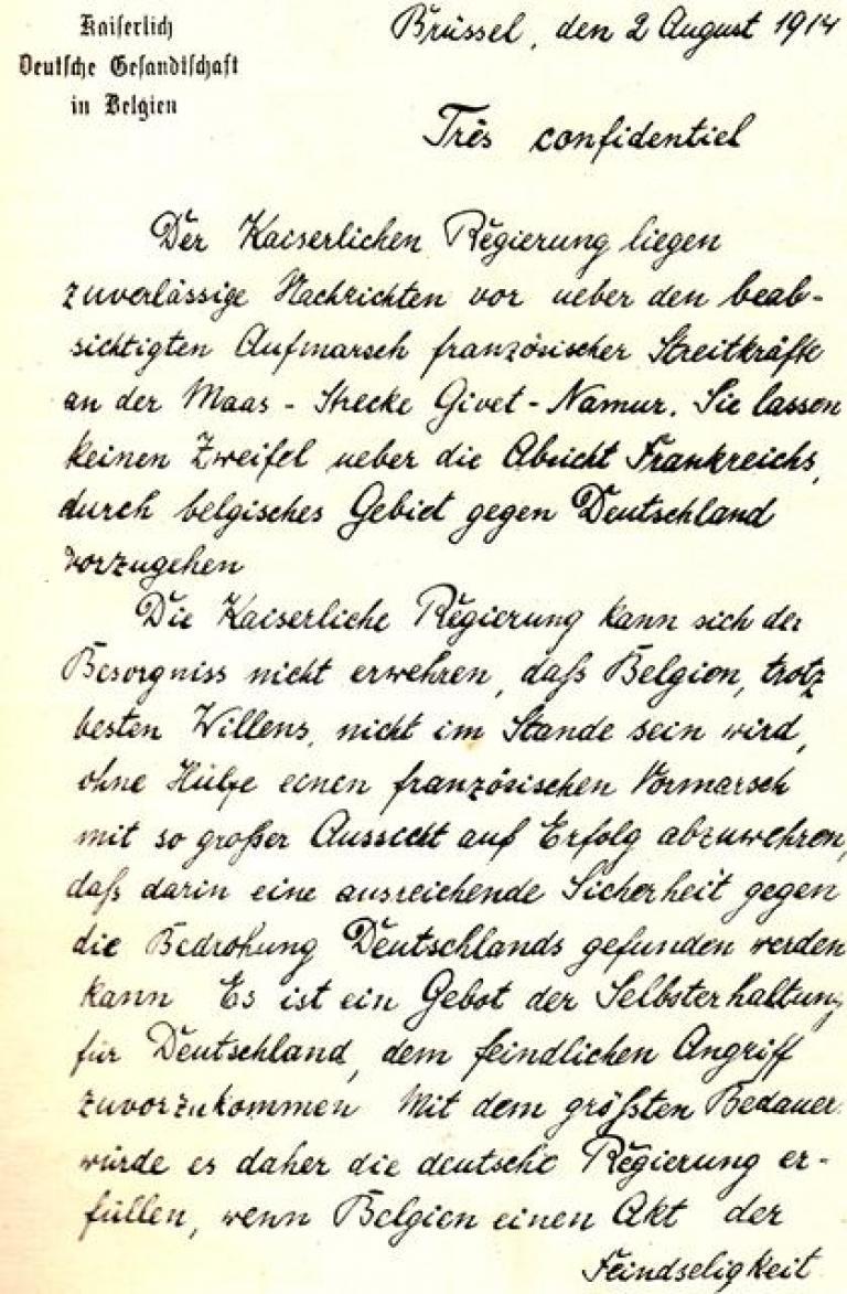 The German ultimatum