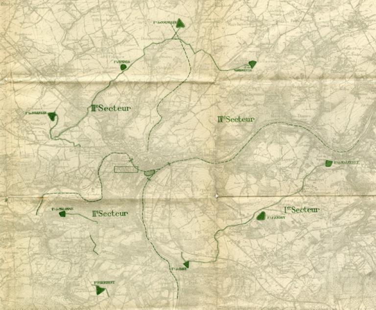 Les forts de la Position Fortifiée de Namur