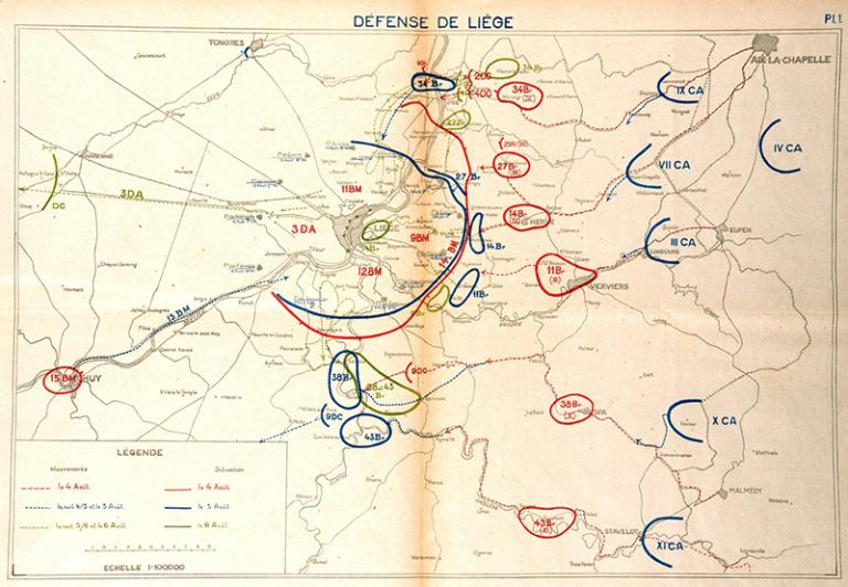 The fighting around Liège